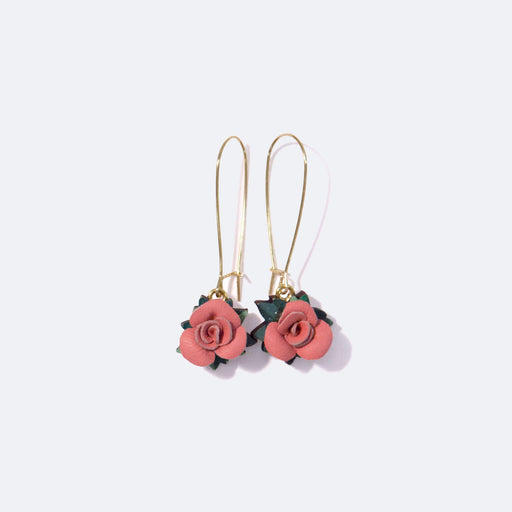 Rosita Bonita Pink Posy Of Roses Earrings