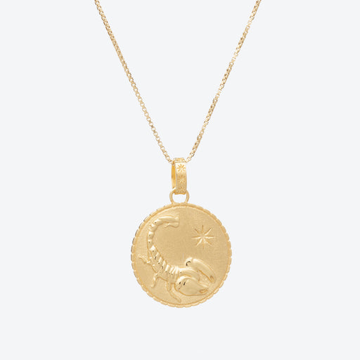 Rachel Jackson Scorpio Zodiac Art Coin Necklace