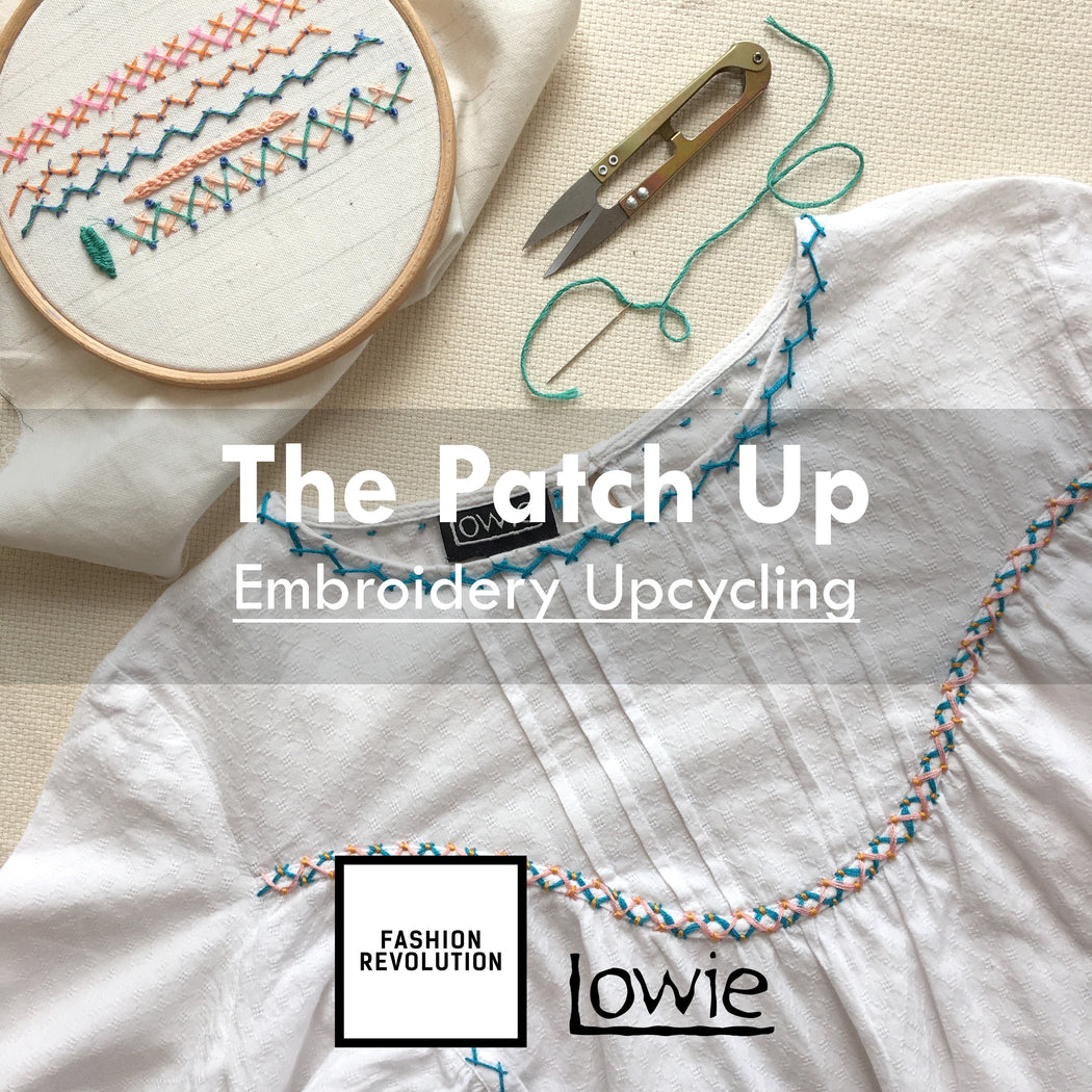 The Patch Up- Online Folk Embroidery Upcycling, 22nd April