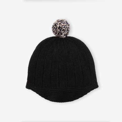 Lowie Black PomPom Riding Hat