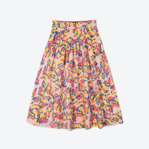 Lowie Pink Floral Tiered Skirt