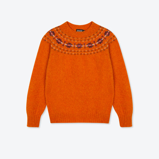 Lowie Ginger Scottish Brushed Fair Isle Jumper