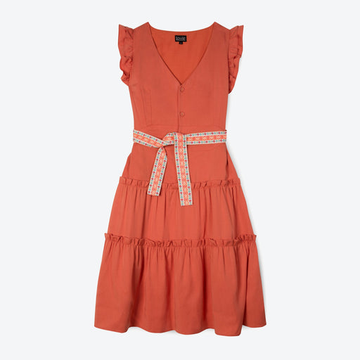 Lowie Apricot Lyocell Ruffle Dress