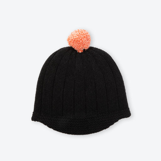 Lowie Orange Pom Black Riding Hat