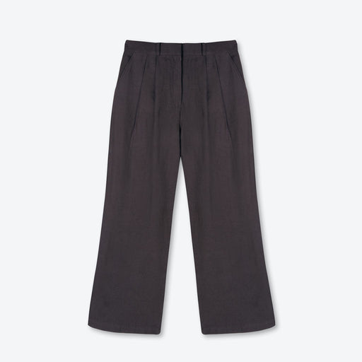 Lowie Khadi Blackish Wide Leg Trouser