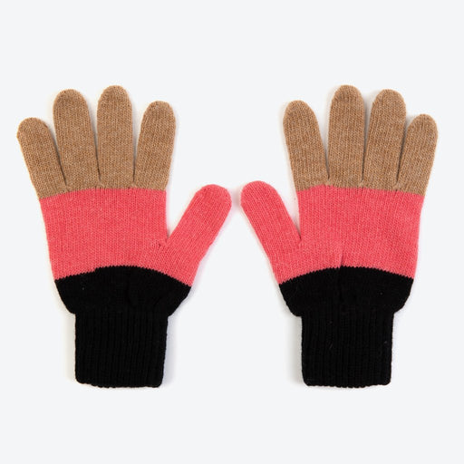 Miss PomPom Black Colourblock Gloves