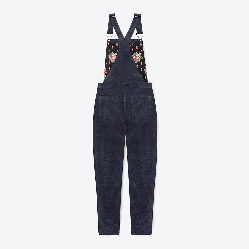 Lowie Navy Corduroy Dungarees