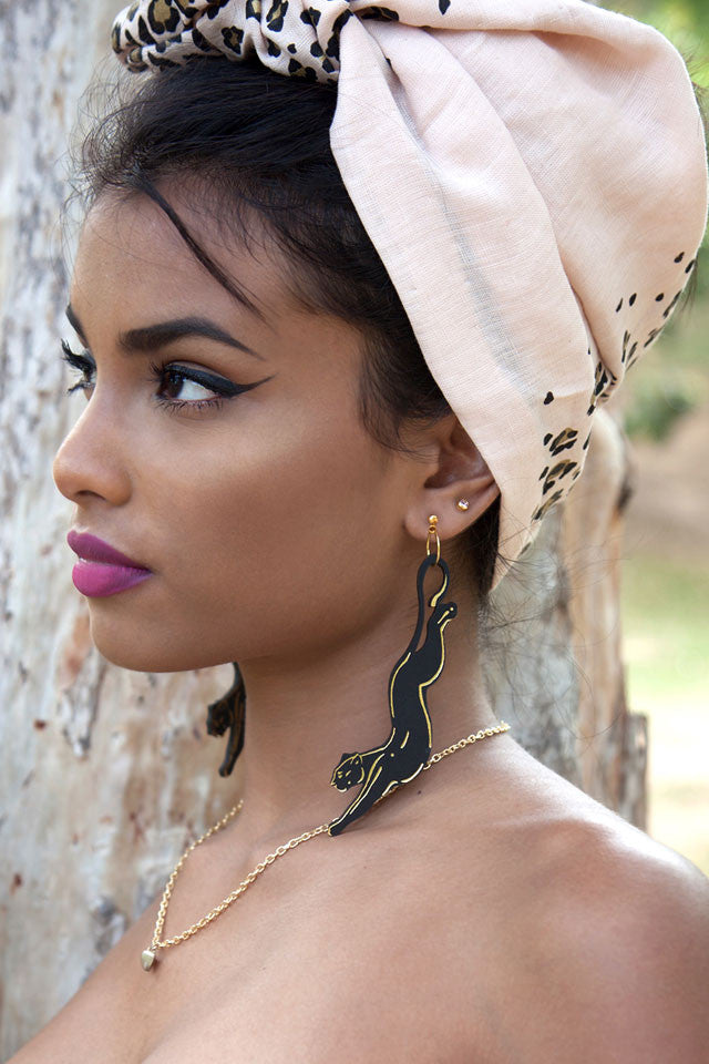 Rosita Bonita Black Panther Earrings