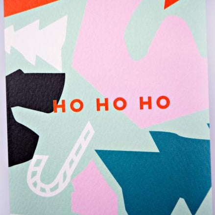 The Completist Ho Ho Ho Christmas Cut Out Shapes Card