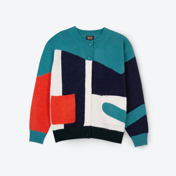 Lowie Colourblock Cardigan