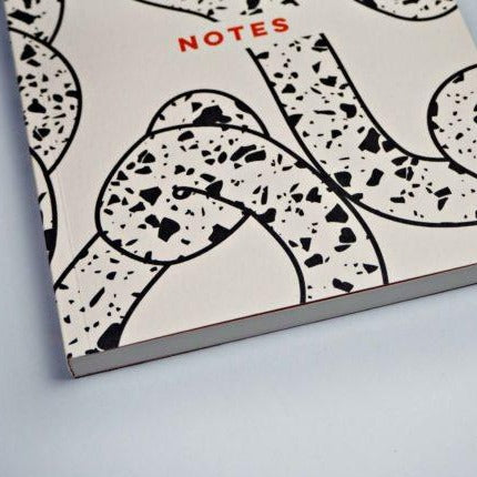 The Completist Grey Terrazzo Ropes Lay Flat A5 Notebook