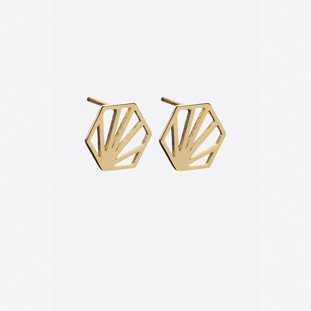 Rachel Jackson Serenity Hexagon Stud Earrings