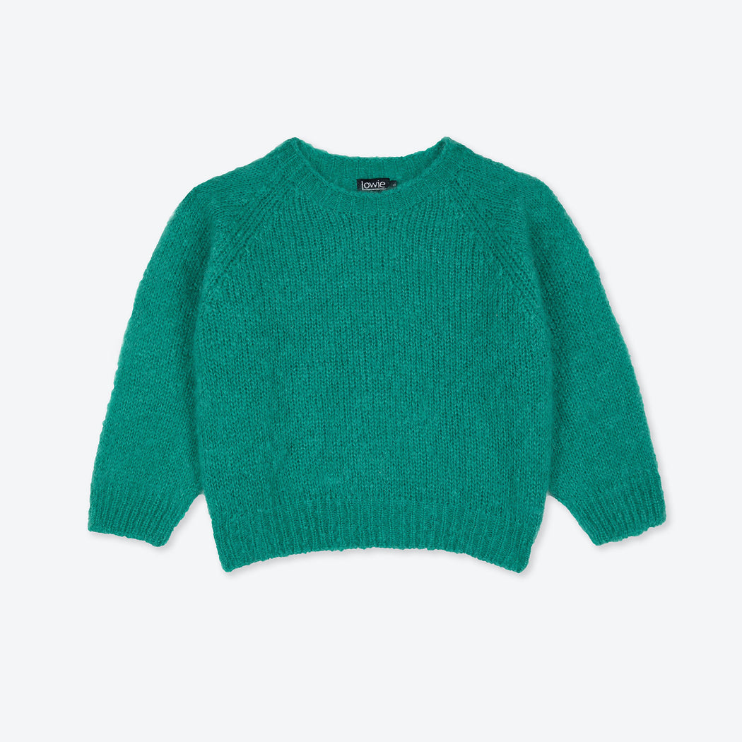 Lowie Jade Green Mohair Cropped Jumper