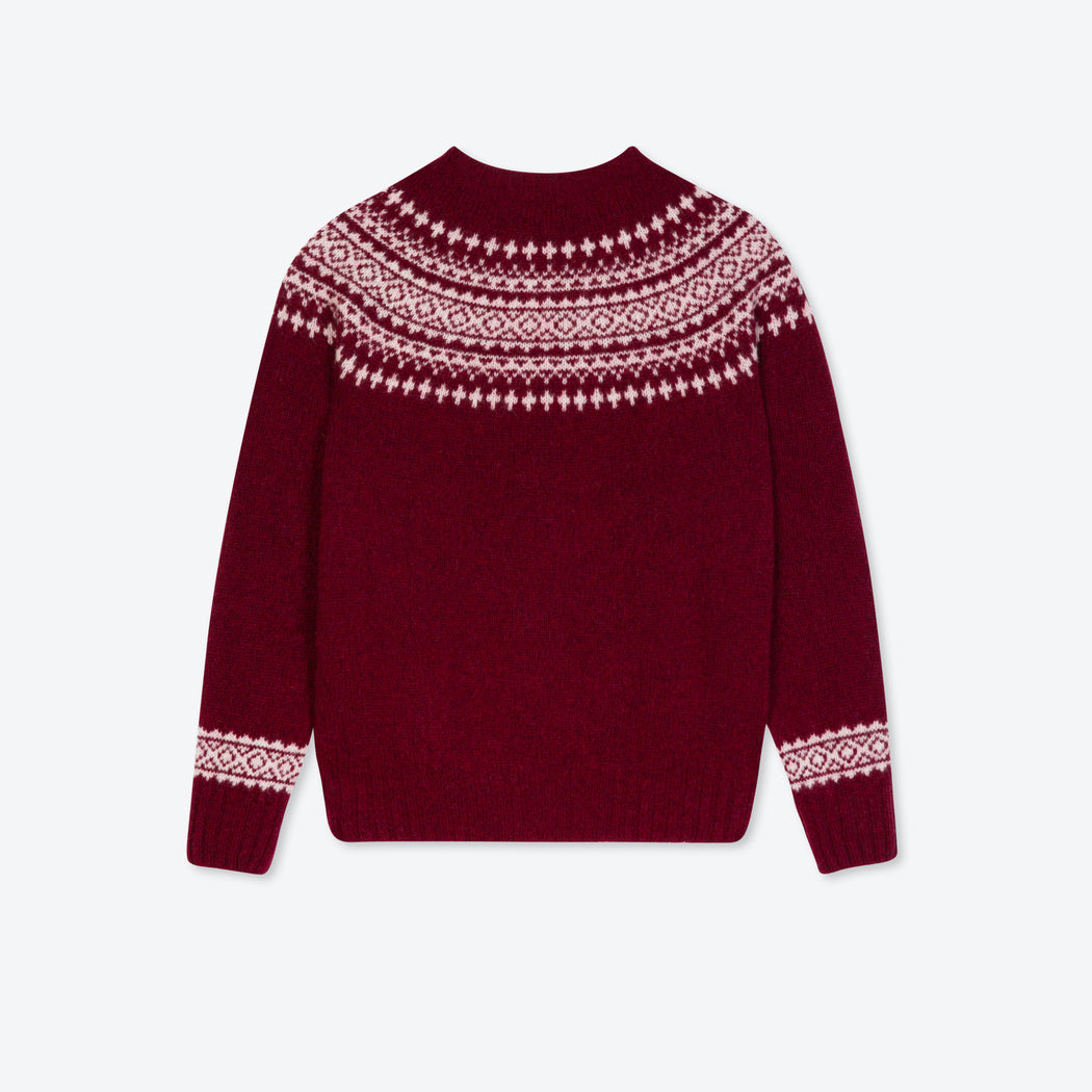 Lowie Burgundy Scottish Snow Jumper