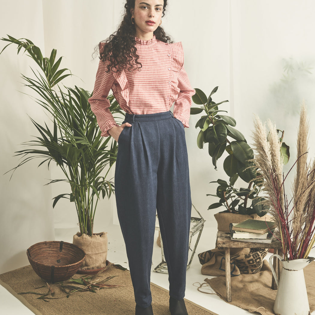 Lowie Organic Denim High Waist Trousers