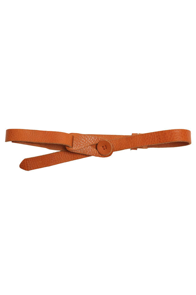 Lowie Tan Leather Button Belt