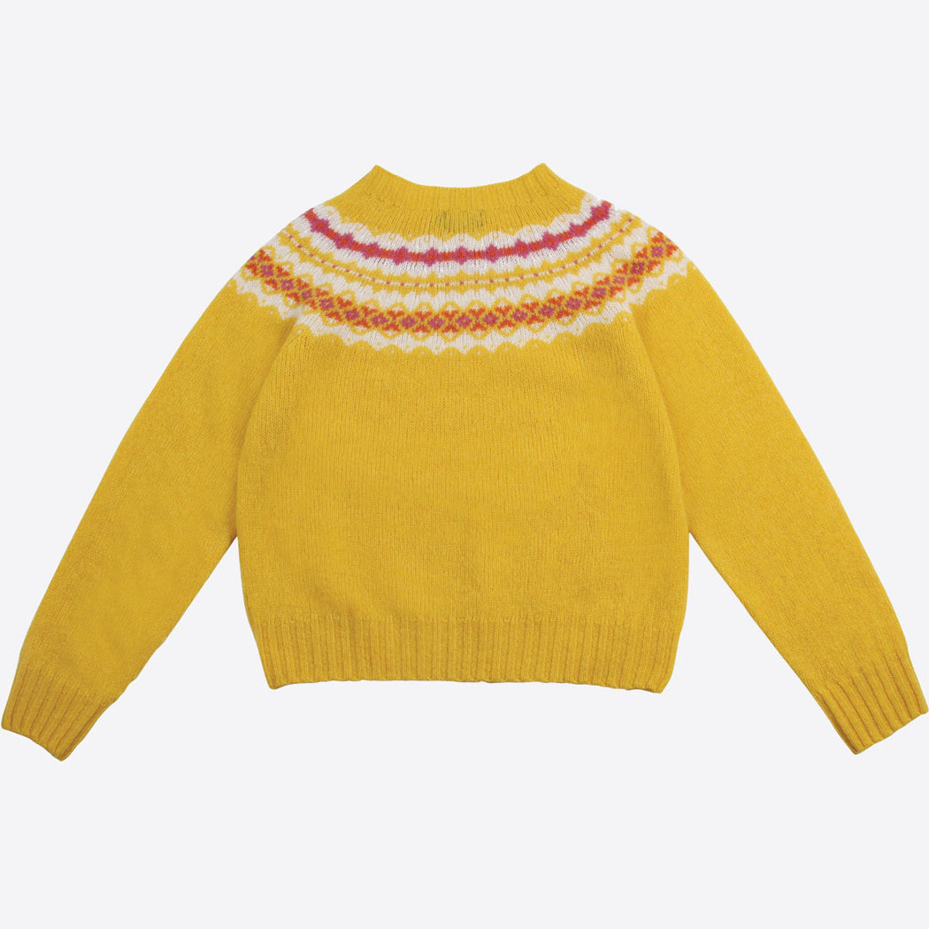 Lowie Yellow Fair Isle Jumper