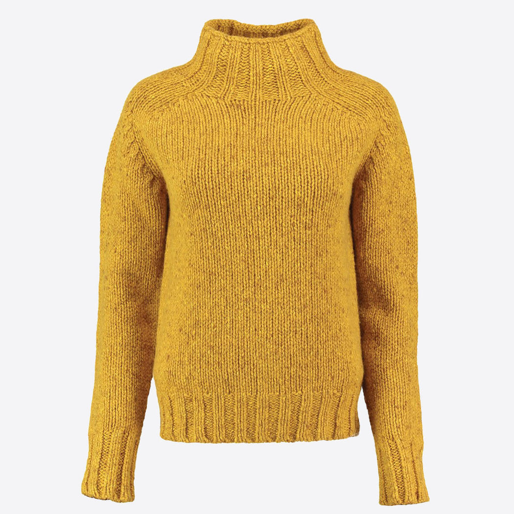 Lowie Gold Cashmere Blend Funnel Neck Jumper