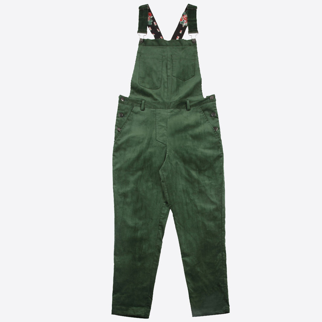 Lowie Green Corduroy Dungarees