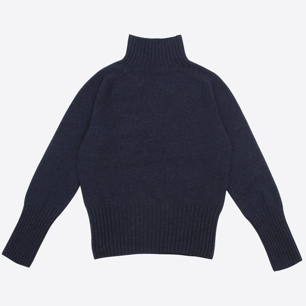 Lowie Navy Lambswool Ski Neck