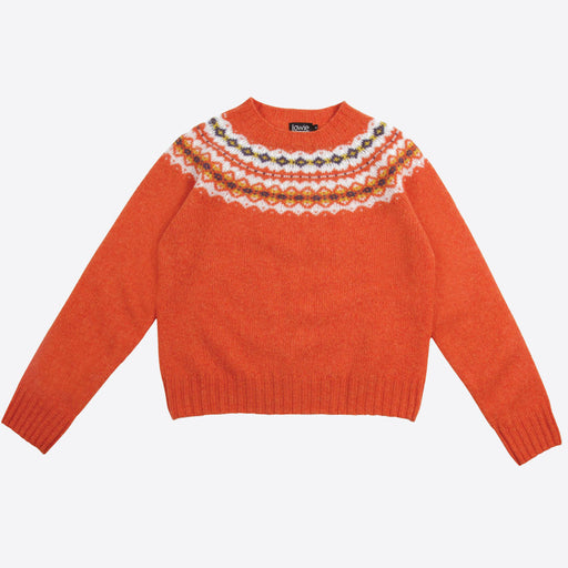 Lowie Orange Fair Isle Jumper