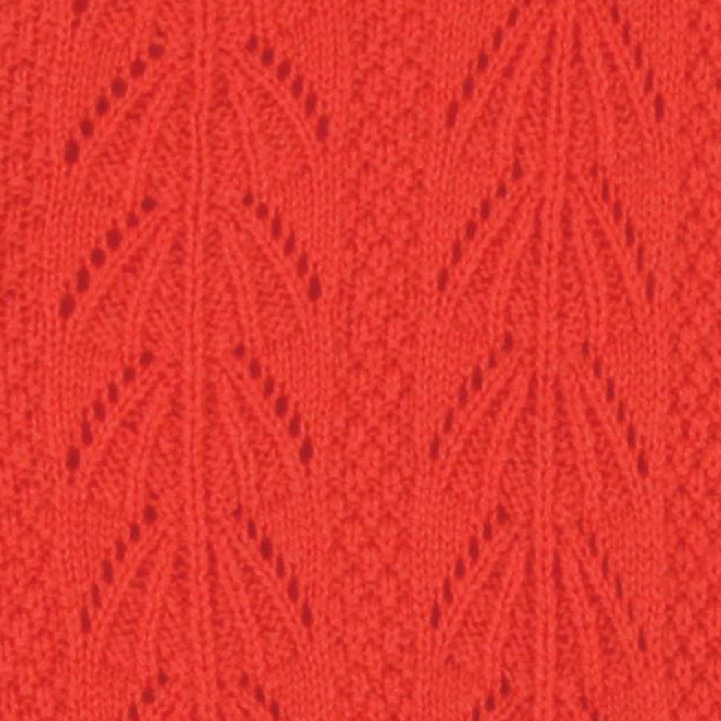 Lowie Red Cashmere Lacy Cardigan