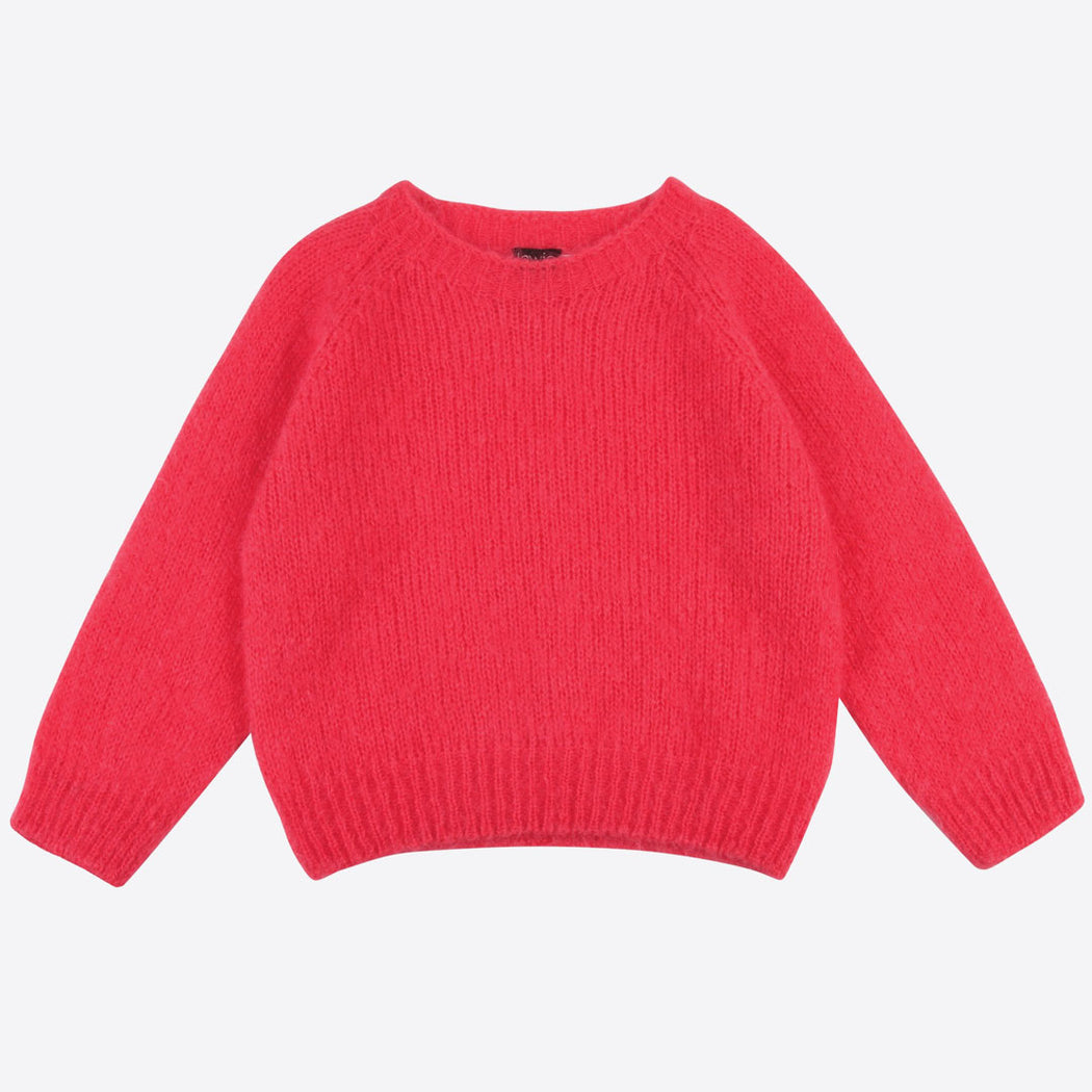 Lowie Strawberry Cropped Mohair Jumper