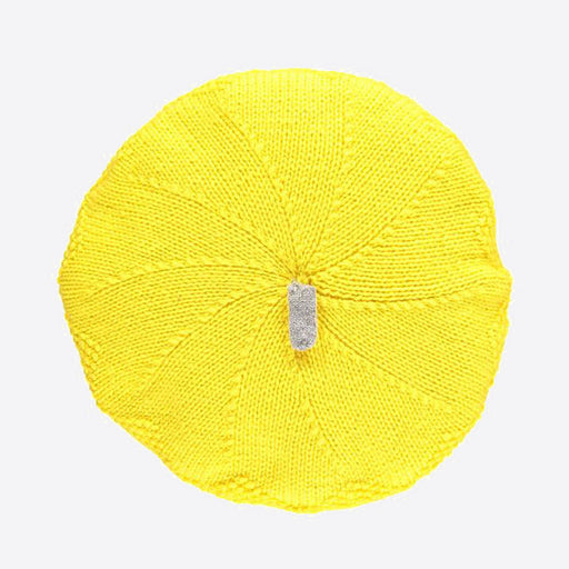 Lowie Yellow  Cashmere Blend Beret