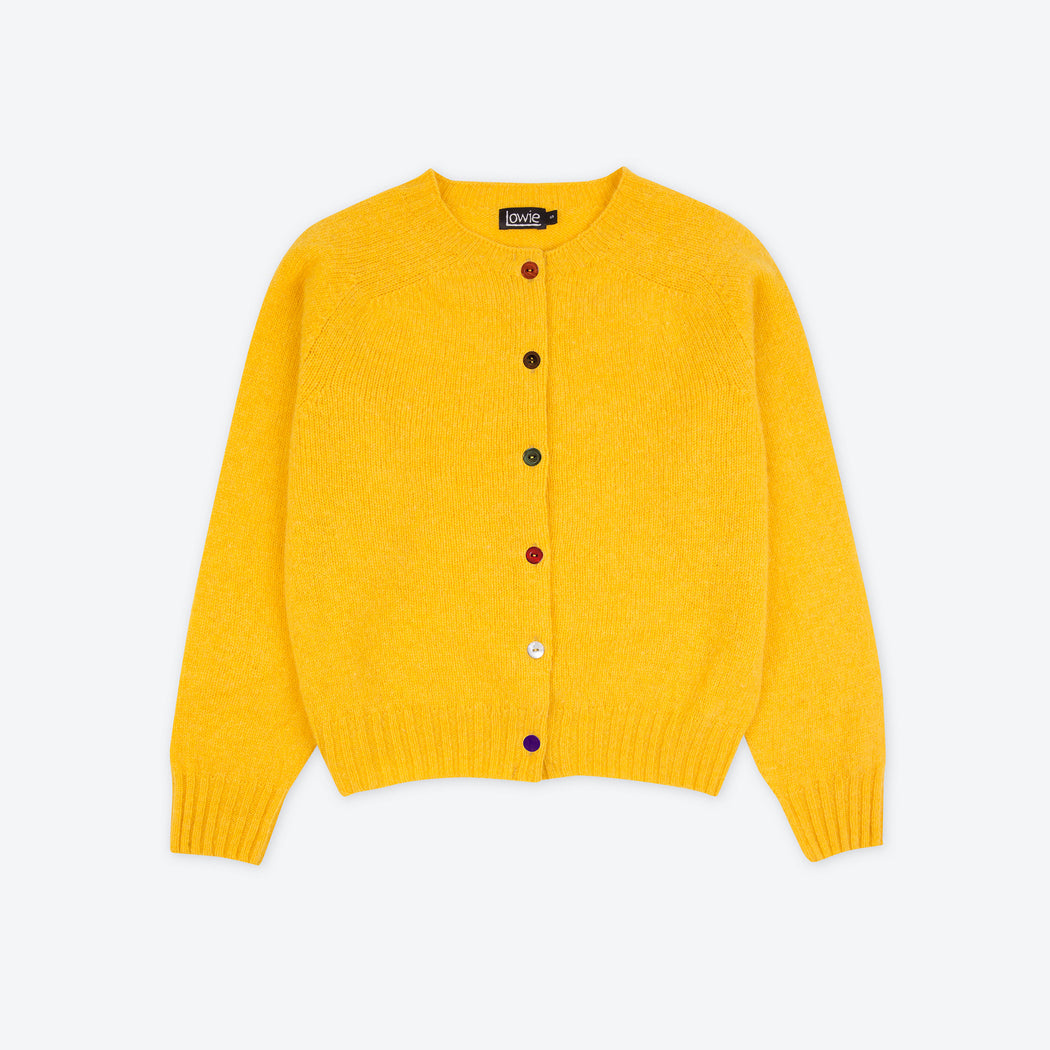 Lowie Yellow Boxy Lambswool Cardigan