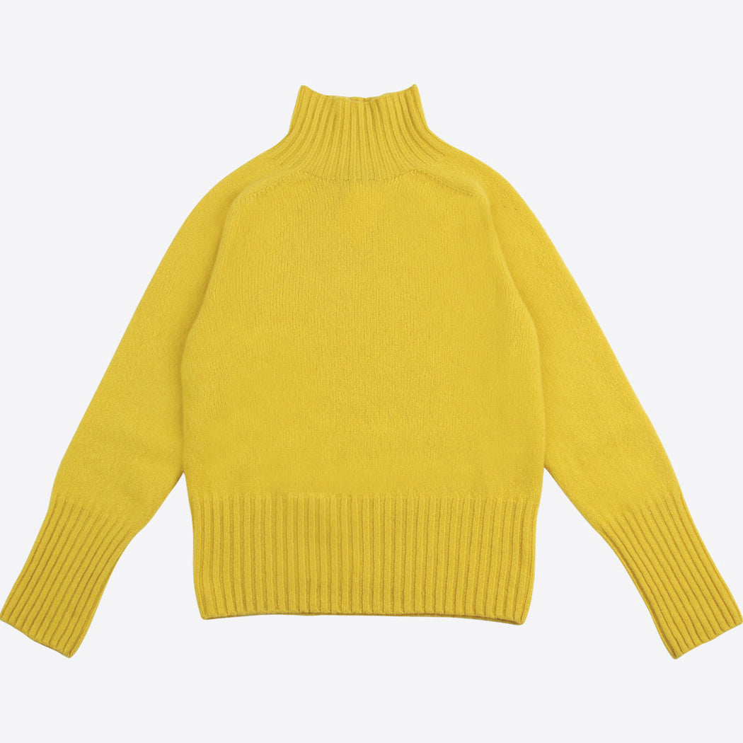 Lowie Yellow Lambswool Ski Neck