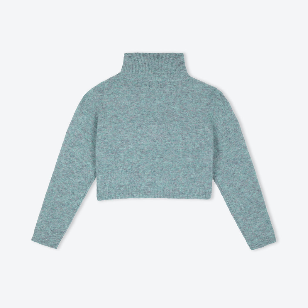 Lowie Lagoon Cropped Roll-Neck