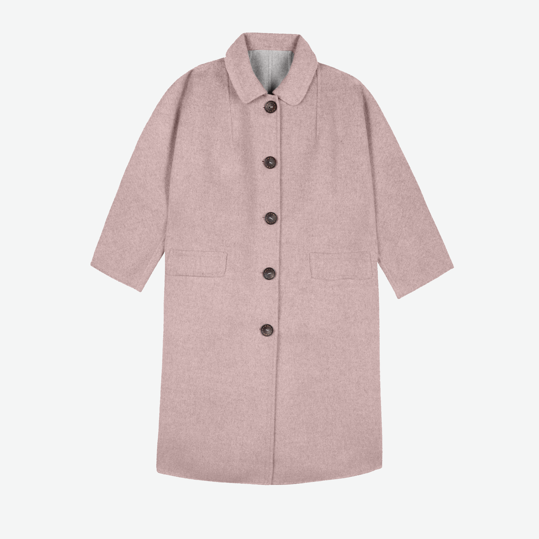 Lowie Rose Quartz Double-Faced Wool Coat