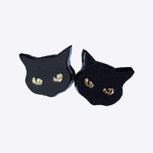 Rosita Bonita Little Black Cat Studs