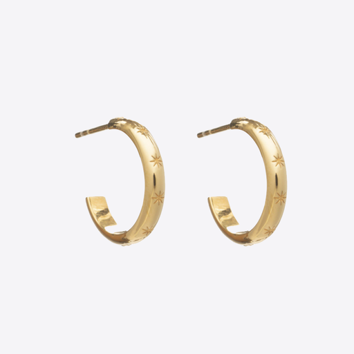 Rachel Jackson Medium Star Studded Hoops