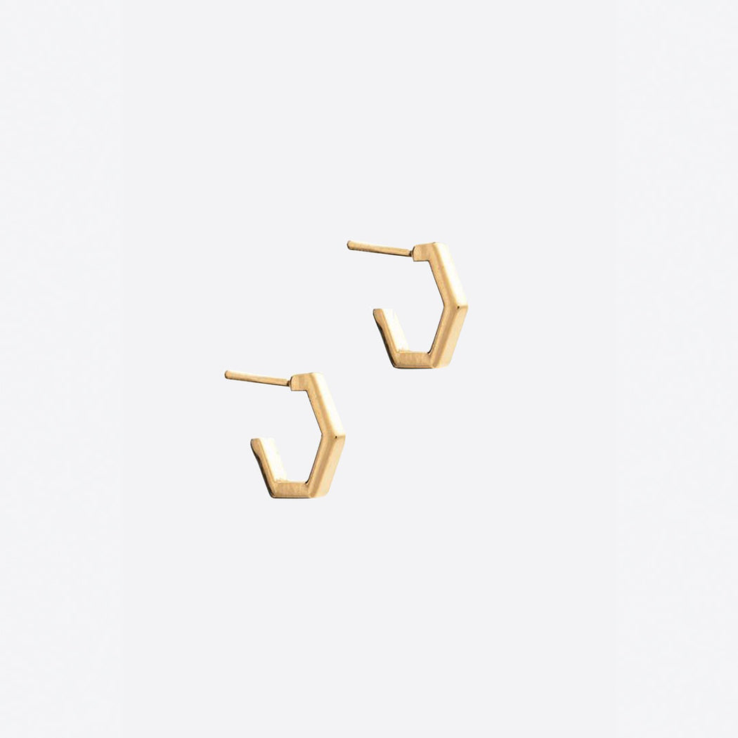 Rachel Jackson Mini Hexagon Hoop Earrings