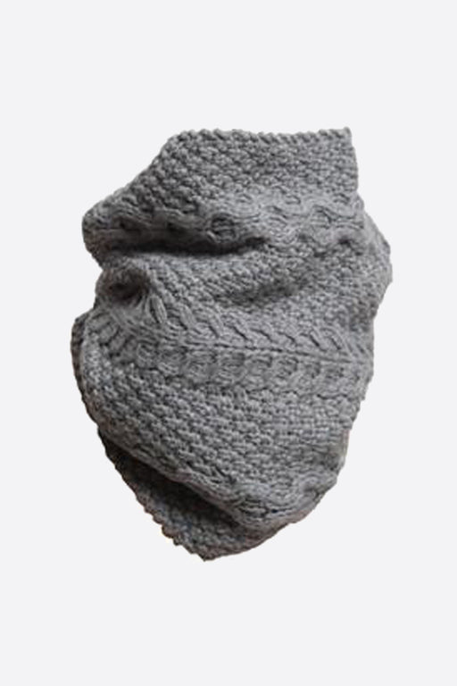 Grey Chunky Merino Snood by Lowie