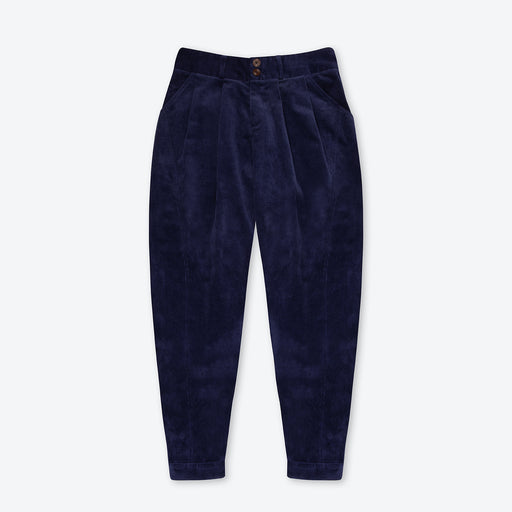 Lowie Navy Corduroy Riding Trouser