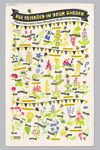 Stuart Gardiner Bee Friendly Tea Towel
