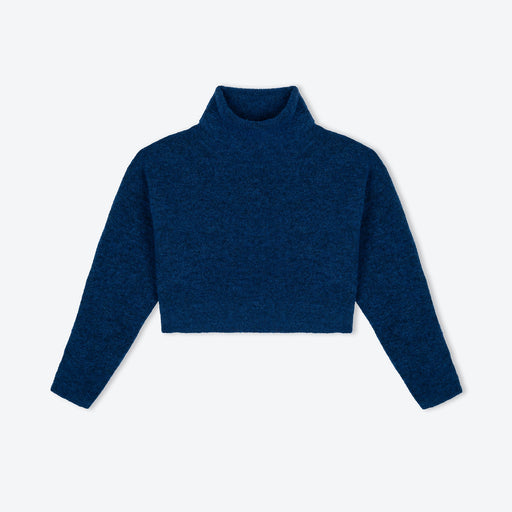 Lowie Ocean Cropped Roll-Neck