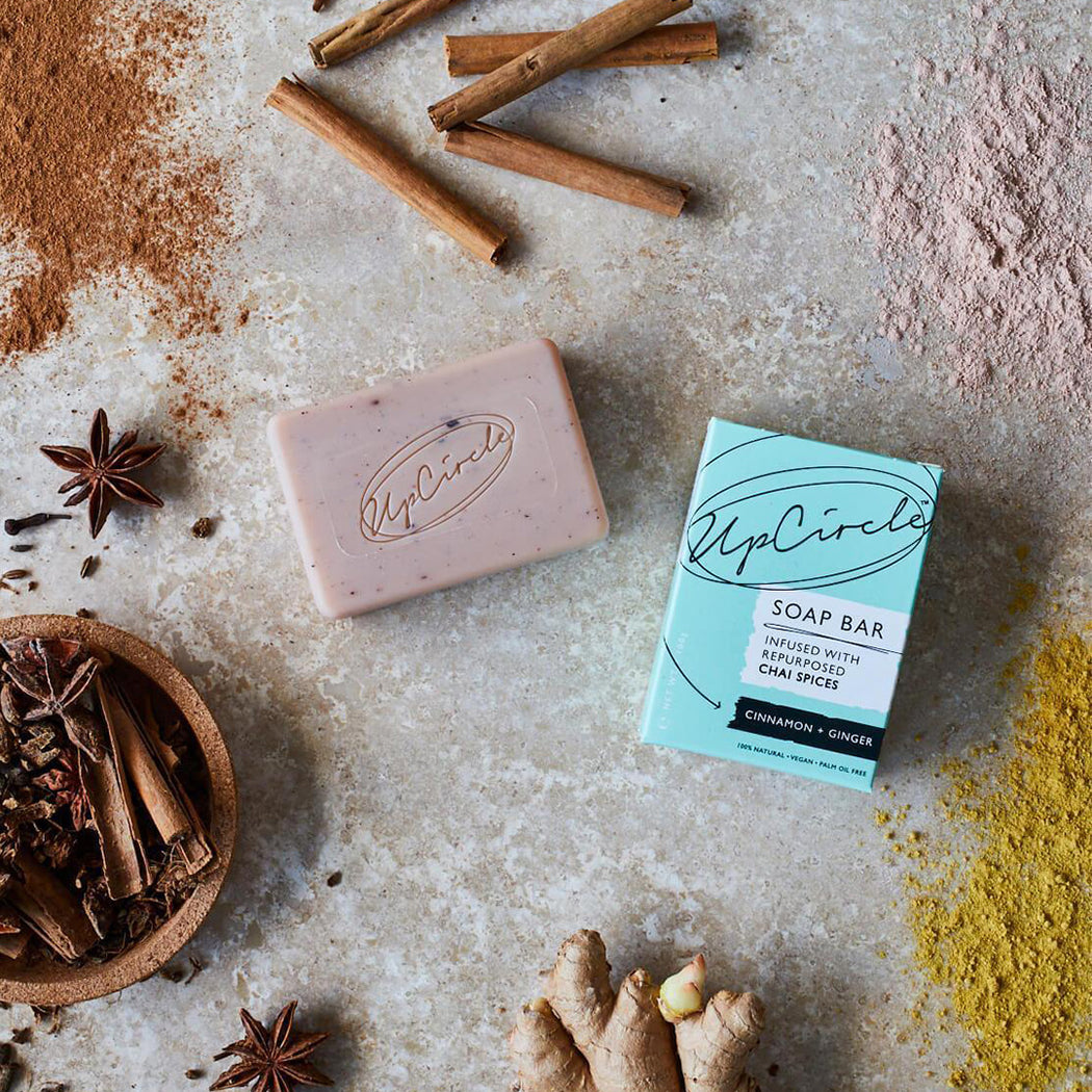 Upcircle Cinnamon & Ginger Chai Spices Soap Bar