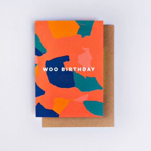 The Completist Woo Camo Collage Birthday Card