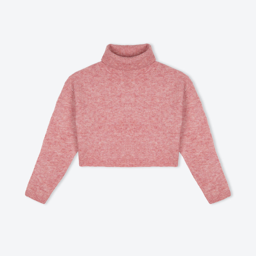 Lowie Rose Cropped Roll-Neck