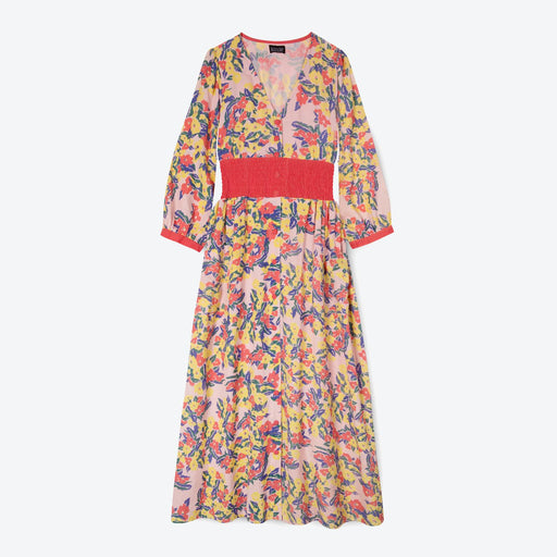 Lowie Pink Floral Maxi Dress