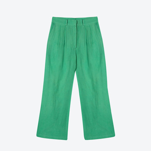 Lowie Khadi Green Wide Leg Trouser