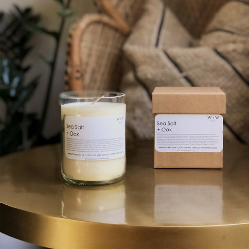 Wax + Wick Sea Salt and Oak Candle