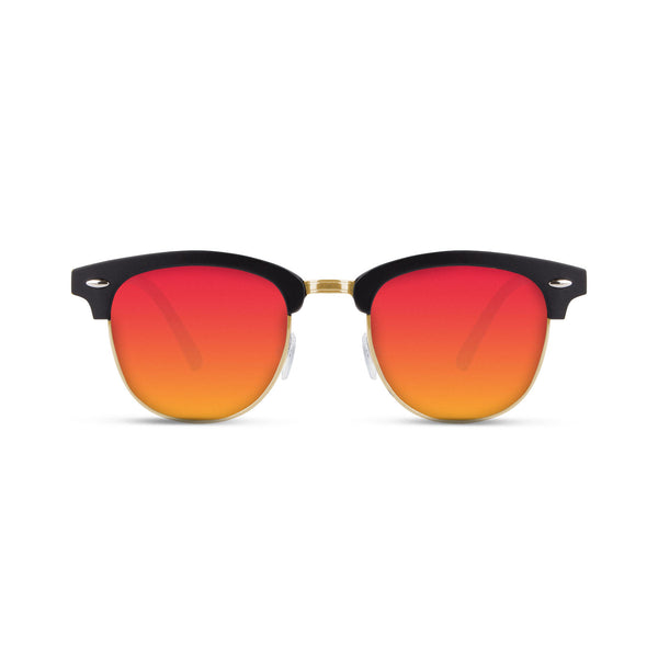 Malaca Matte Black Gold / Red Sunglasses