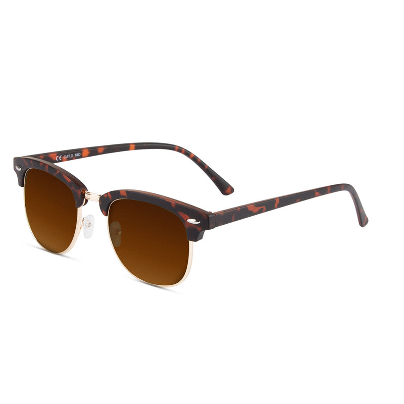 Malaca Matte Carey Gold / Brown Sunglasses
