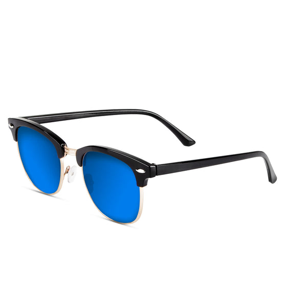 Malaca Shinny Black Gold / Blue Sunglasses