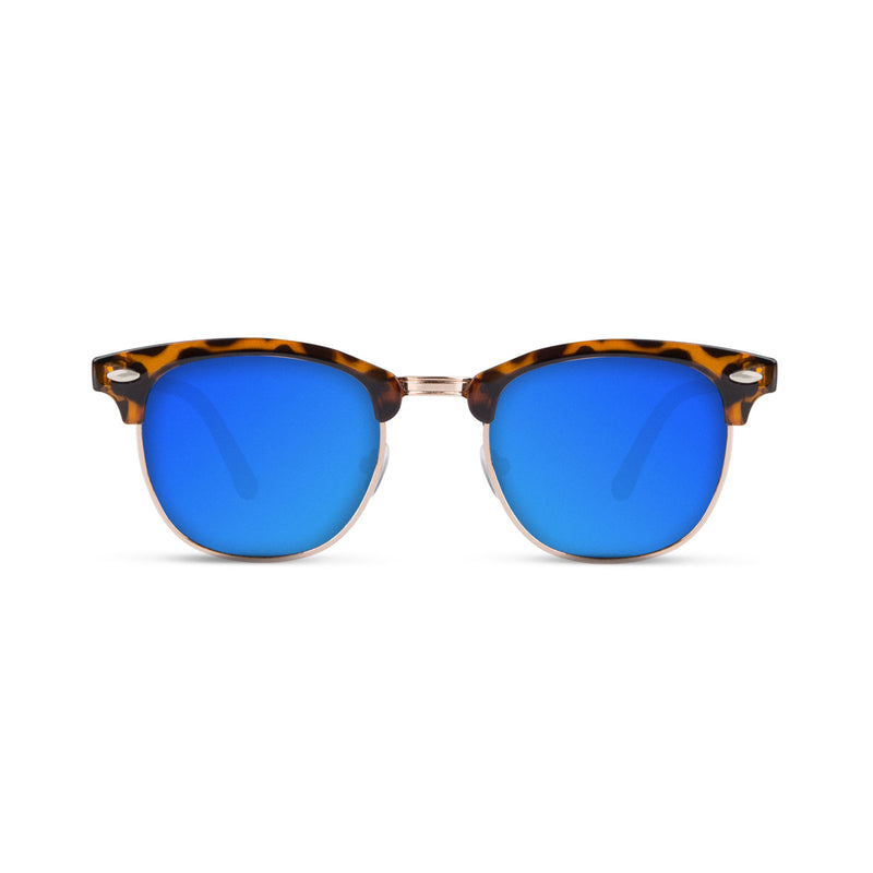 Malaca Shinny Carey Gold / Blue Sunglasses