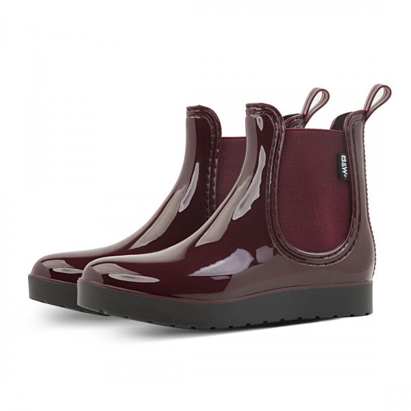 Rain Booties Woman Maroon Elastic